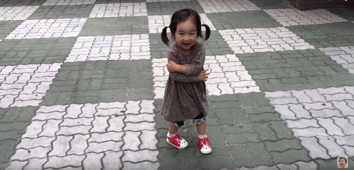 Grumpy Cute Little Girl And A Squeaky Pair Of Shoes !!!